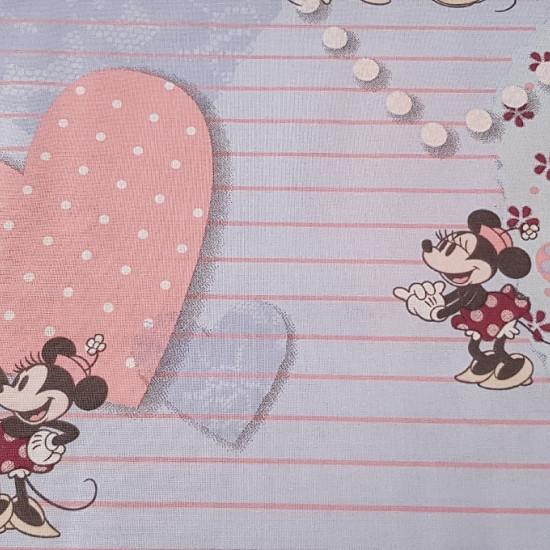 Algodón Disney Mickey Minnie Love