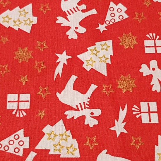 Algodón Navidad Renos Avetos