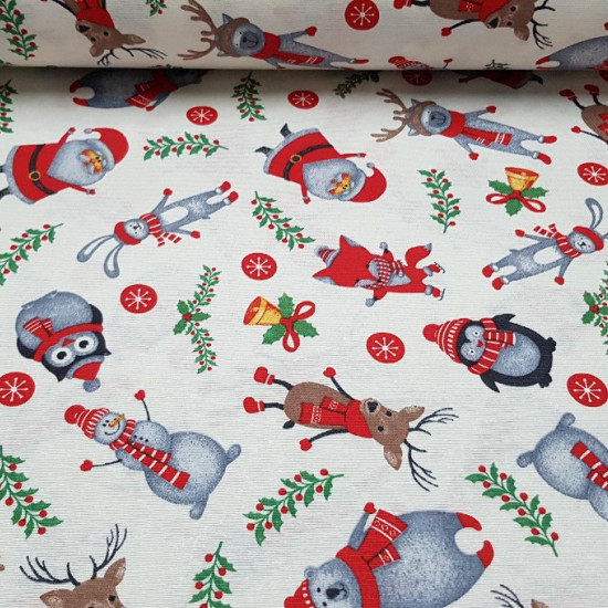 Loneta Navidad Animales