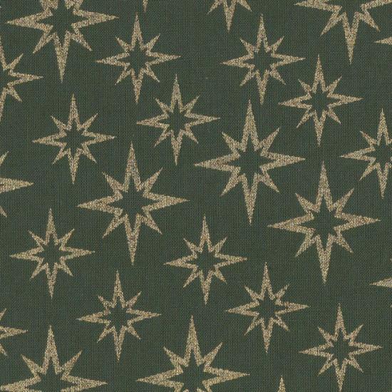 Patchwork Navidad Estrellas Doradas