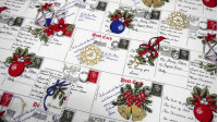 Patchwork Navidad Postales