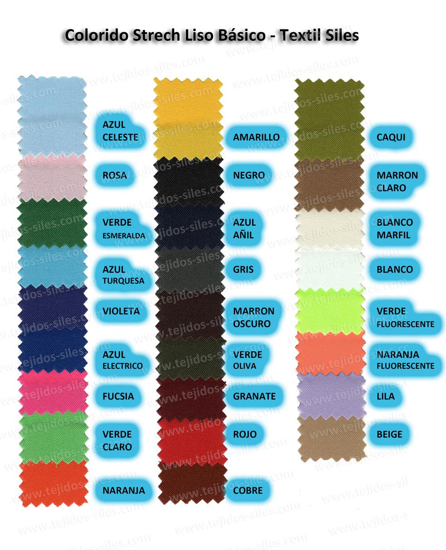 Colorido Strech Liso